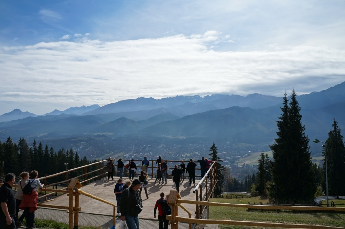 Viewing platform for the Tatra Mountains