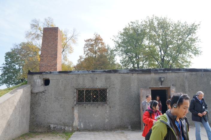 The exterior of the gas chamber